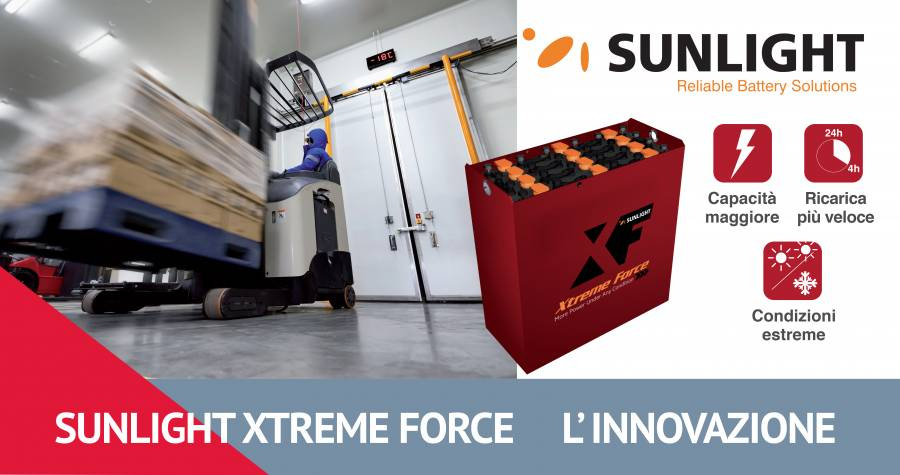 Foto - SunLight Xtreme Force: batterie per carrelli elevatori innovative!